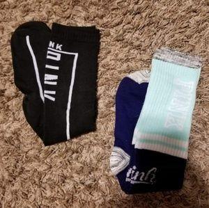 NWOT VS Pink knee high socks